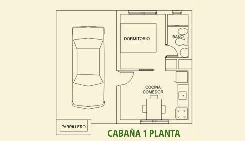 Plano Cabaña 1 planta